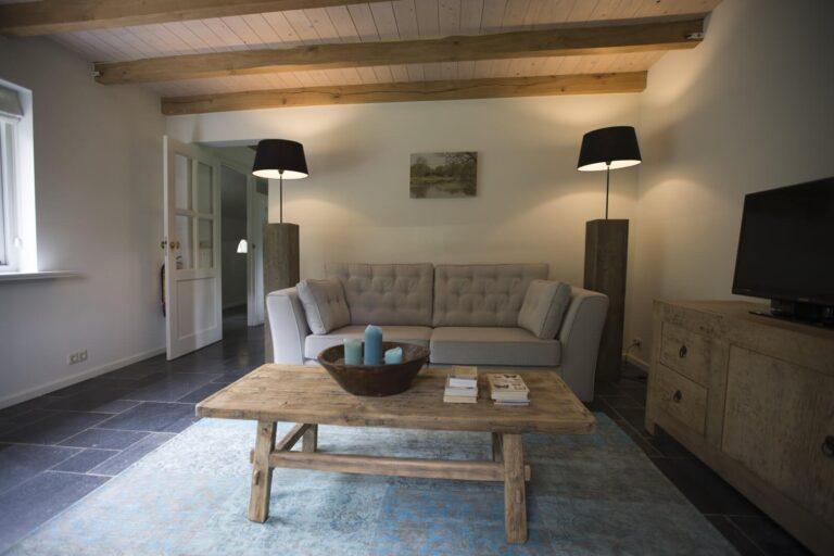 Woonkamer vakantiewoning Duins End Oostvoorne