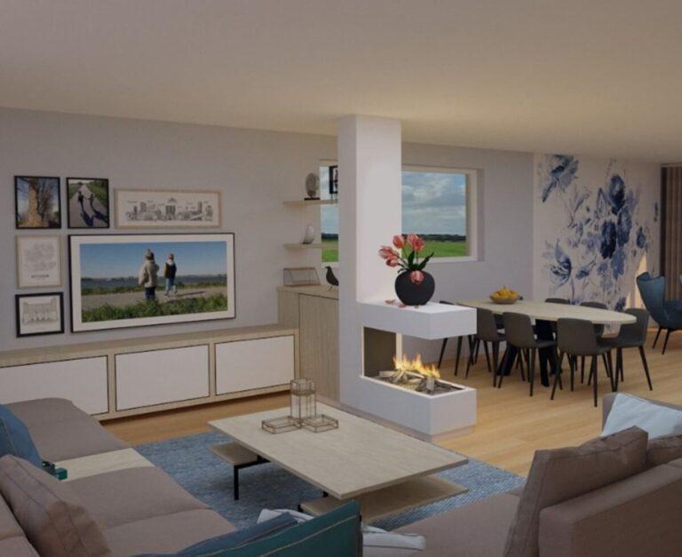 3D-impressie interieurontwerp woonkamer